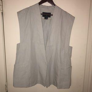 {Lacoste} Open Sleeveless Blazer Vest